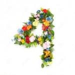 4 flores