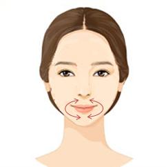Masaje facial antiedad contorno de labios