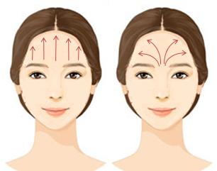 Masaje facial antiedad de frente