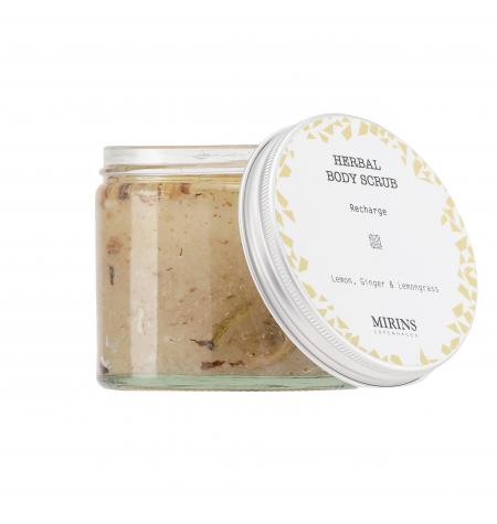 Body Scrub Recharge: Lemon/ Ginger/ Lemongrass · 250 ml