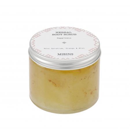 Body Scrub Happiness: Geranium/Orange/Mint · 250 ml