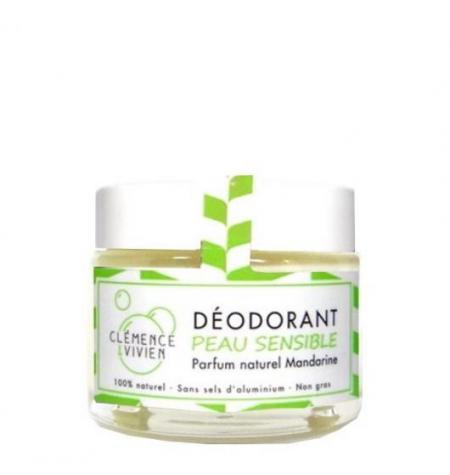 Deodorant naturel Peau sensible Mandarine - 50gr